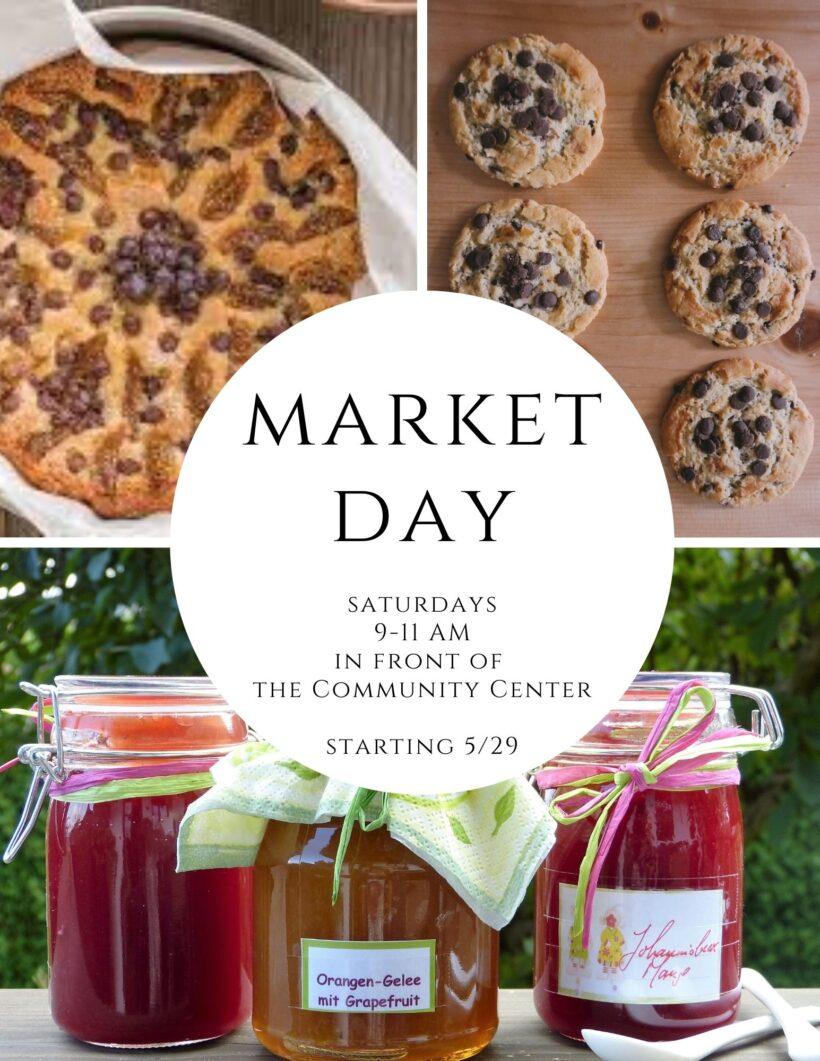 Market Day on Saturdays